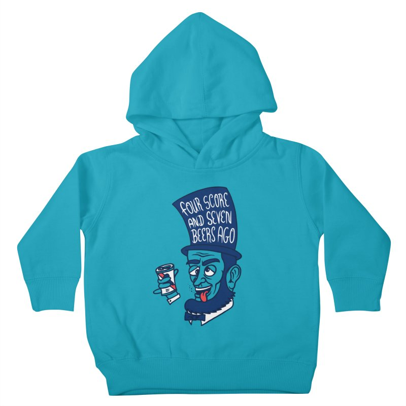 Abe Drincoln Kids Toddler Pullover Hoody by SteveOramA