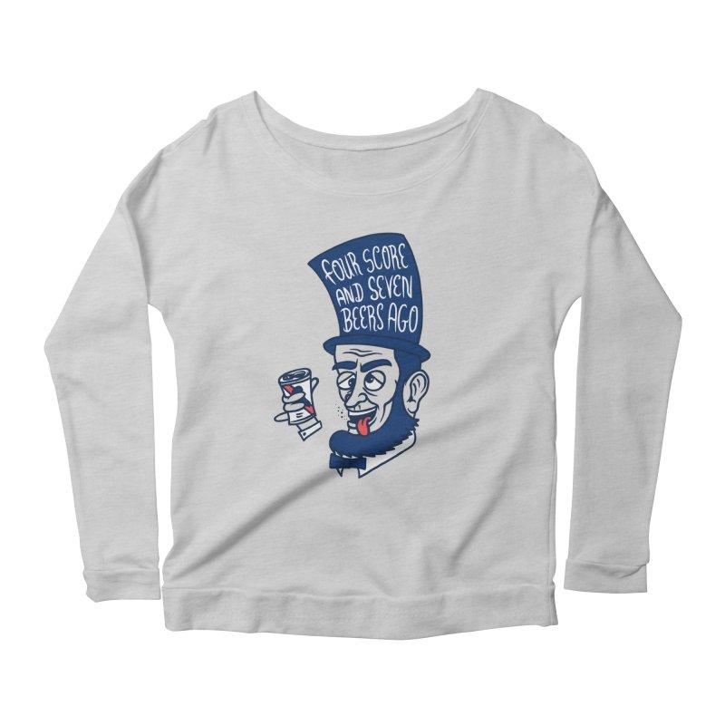 Abe Drincoln Women's Scoop Neck Longsleeve T-Shirt by SteveOramA