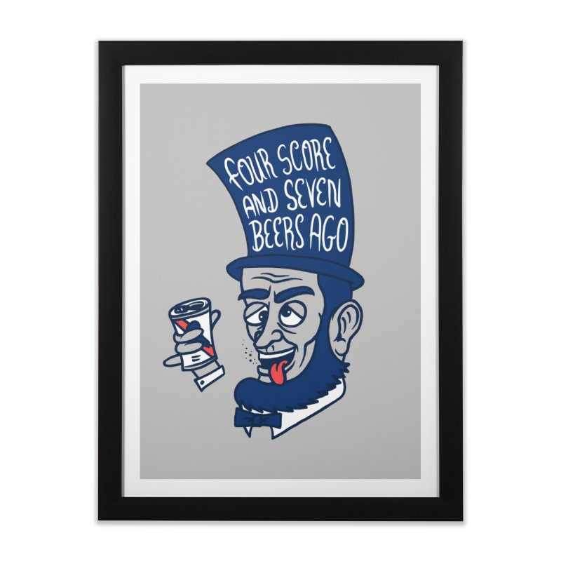 Abe Drincoln Home Framed Fine Art Print by SteveOramA