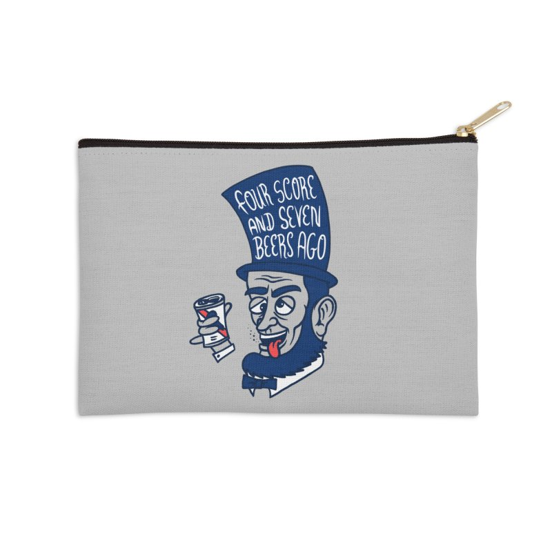 Abe Drincoln Accessories Zip Pouch by SteveOramA