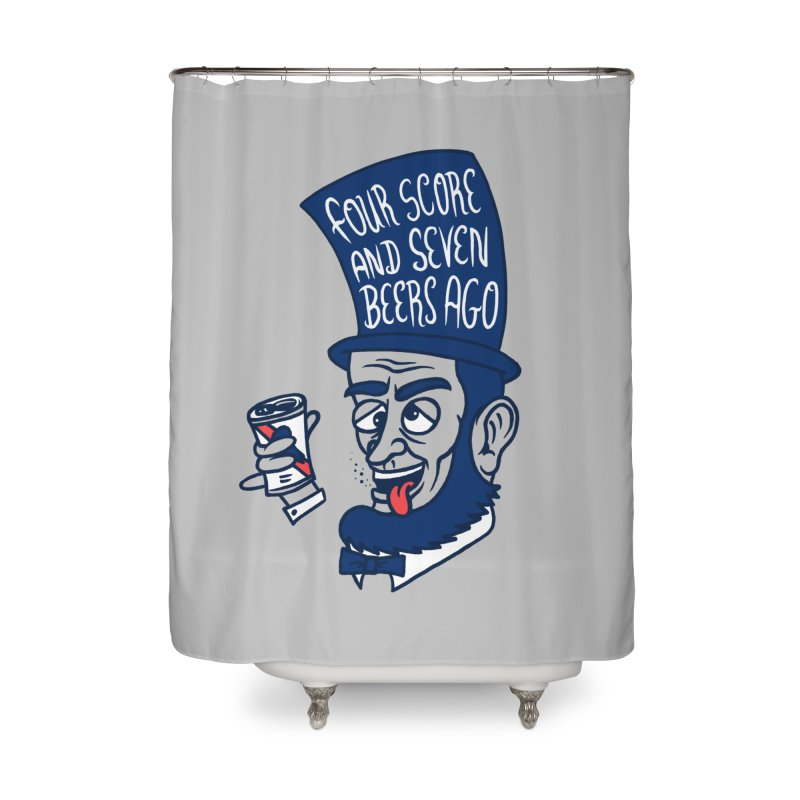 Abe Drincoln Home Shower Curtain by SteveOramA
