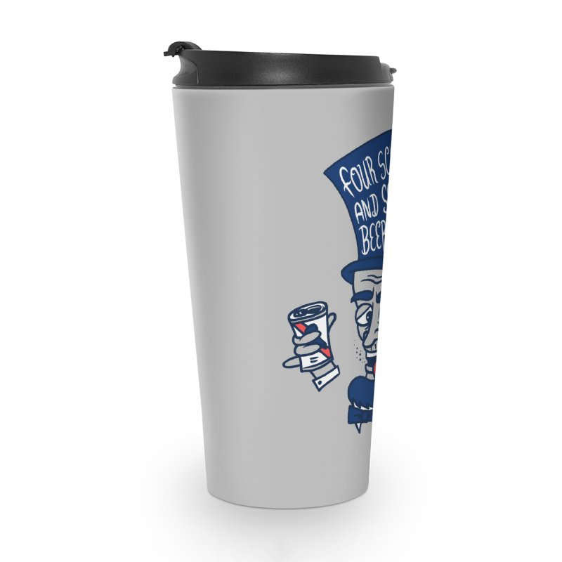 Abe Drincoln Accessories Travel Mug by SteveOramA
