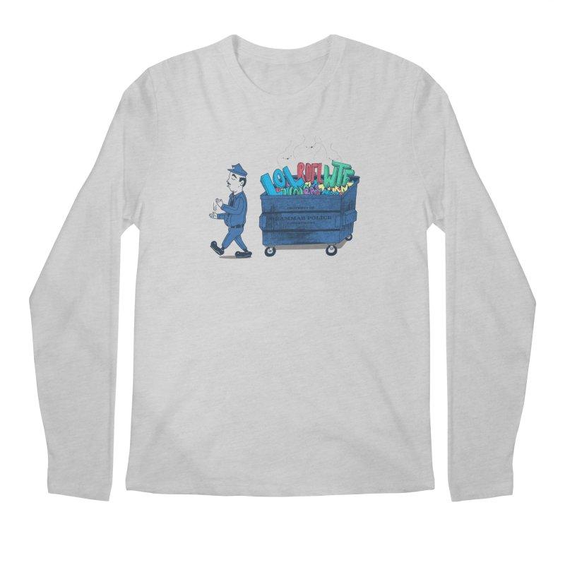 Grammar Police 2 Men's Longsleeve T-Shirt by SteveOramA