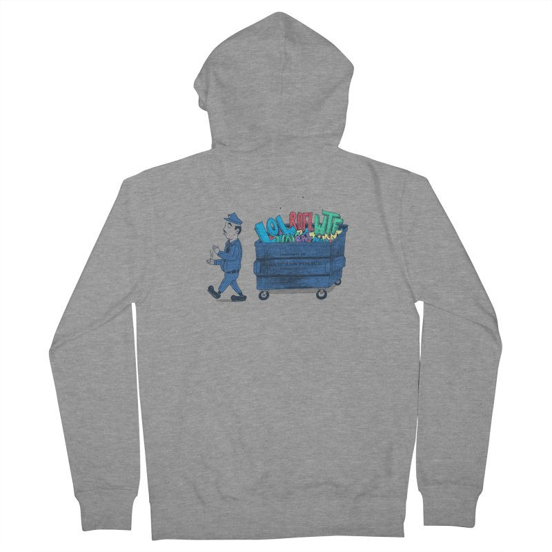 Grammar Police 2 Men's French Terry Zip-Up Hoody by SteveOramA