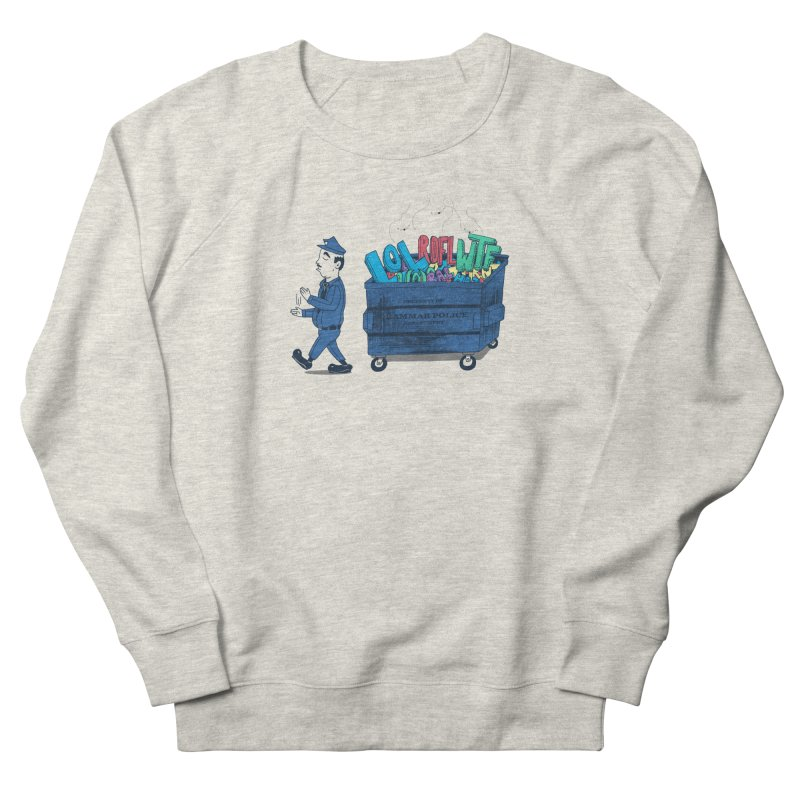 Grammar Police 2 Men's French Terry Sweatshirt by SteveOramA
