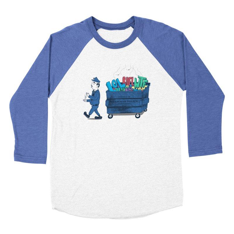 Grammar Police 2 Women's Baseball Triblend T-Shirt by SteveOramA