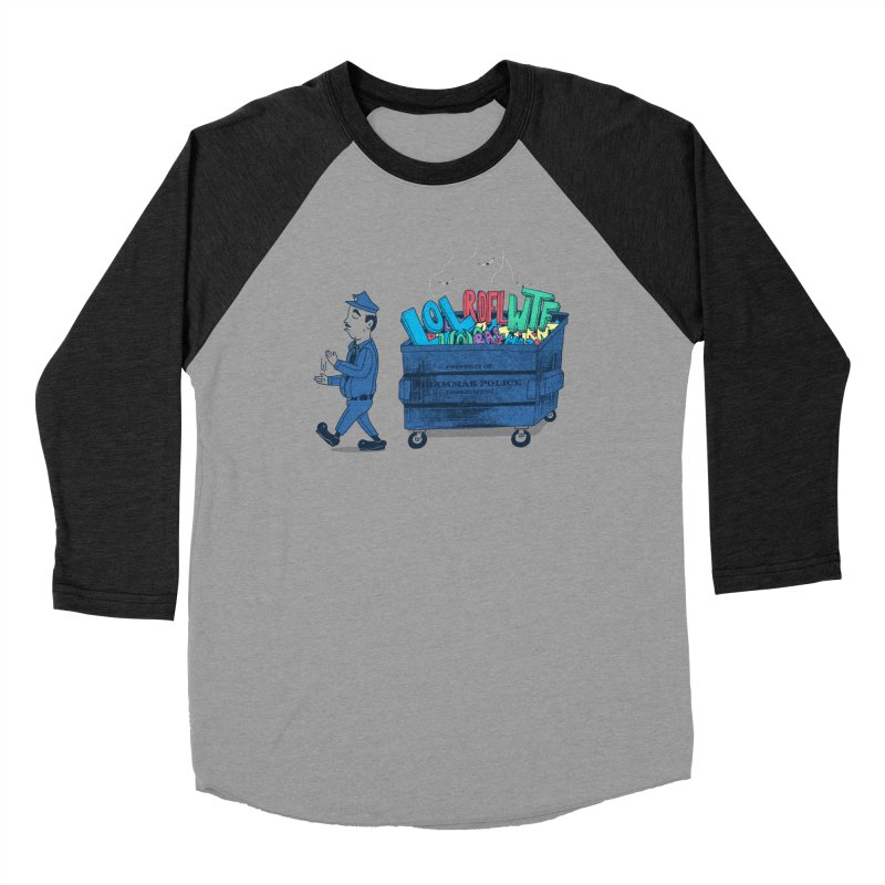 Grammar Police 2 Men's Baseball Triblend T-Shirt by SteveOramA