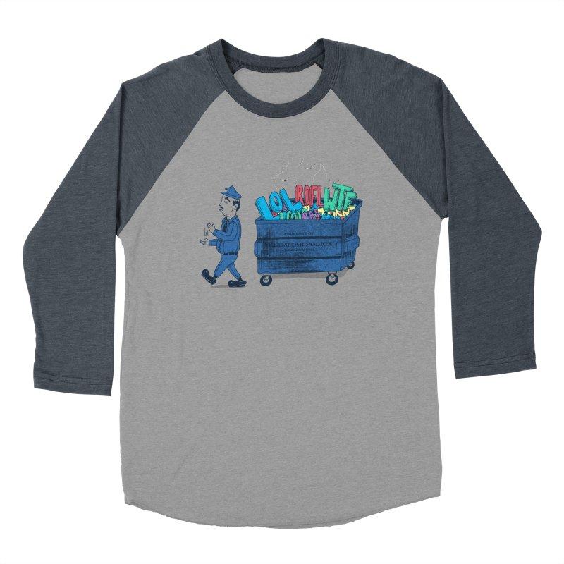 Grammar Police 2 Men's Baseball Triblend Longsleeve T-Shirt by SteveOramA