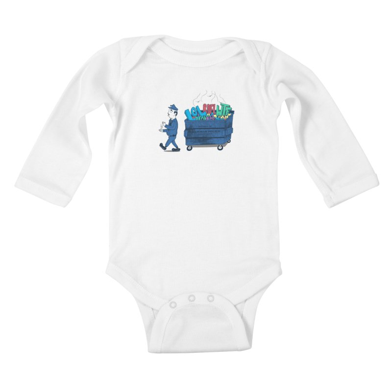 Grammar Police 2 Kids Baby Longsleeve Bodysuit by SteveOramA