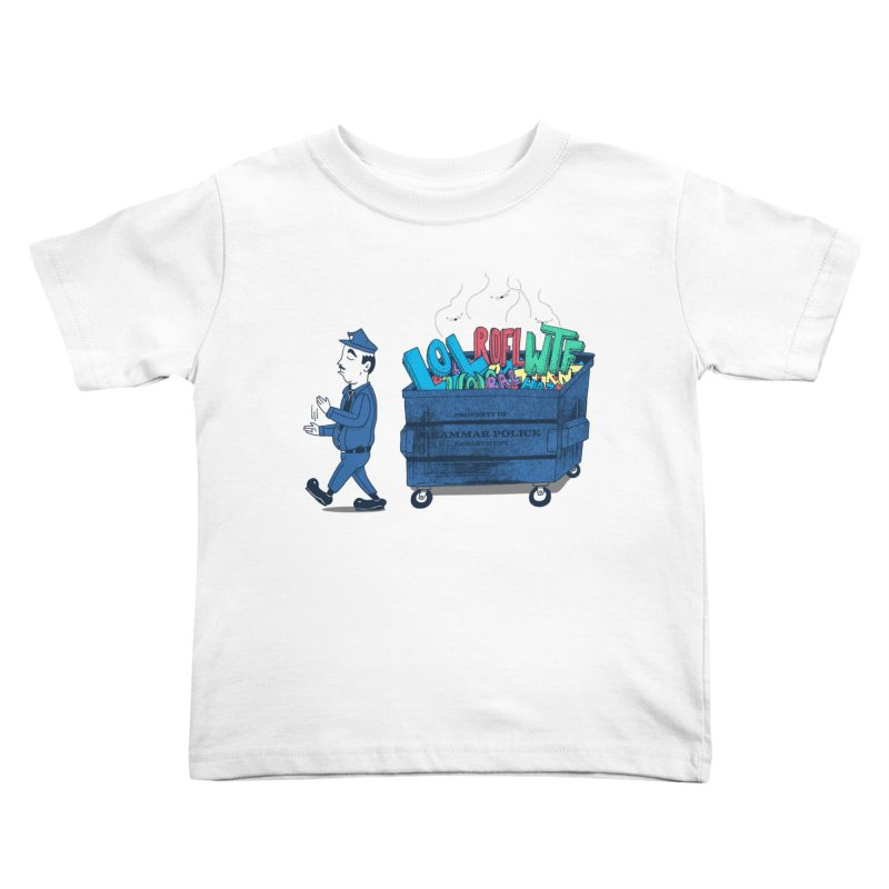 Grammar Police 2 Kids Toddler T-Shirt by SteveOramA