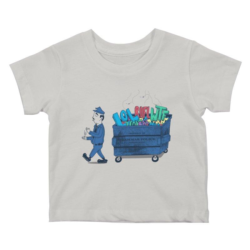Grammar Police 2 Kids Baby T-Shirt by SteveOramA