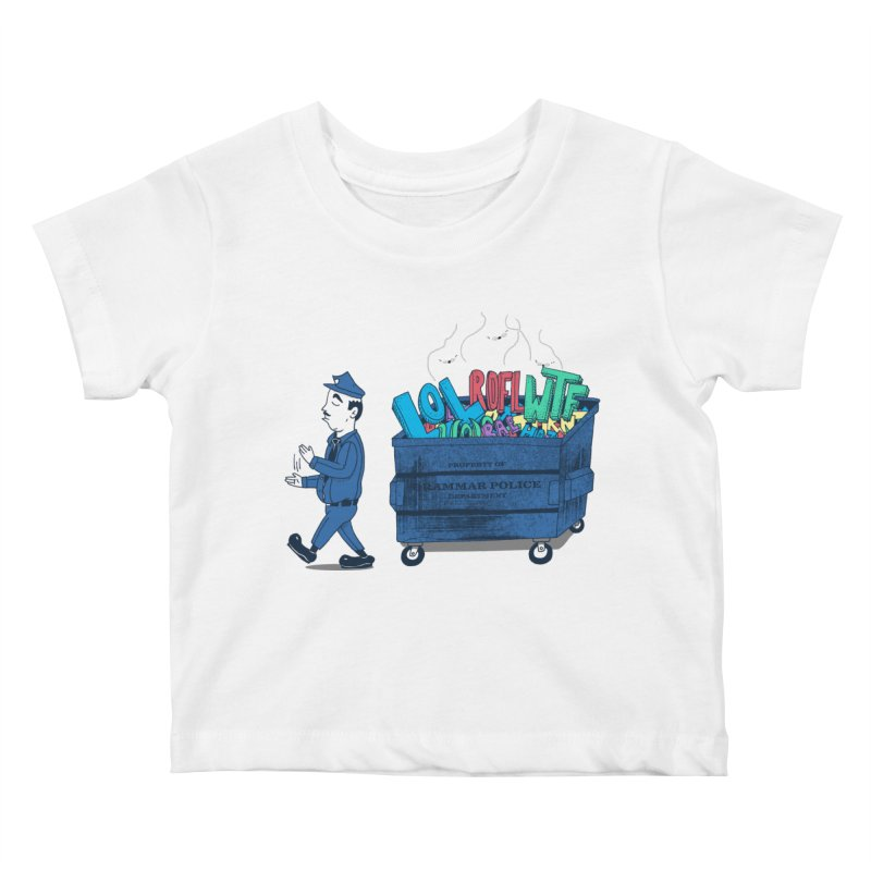 Grammar Police 2 Kids Baby T-Shirt by SteveOramA