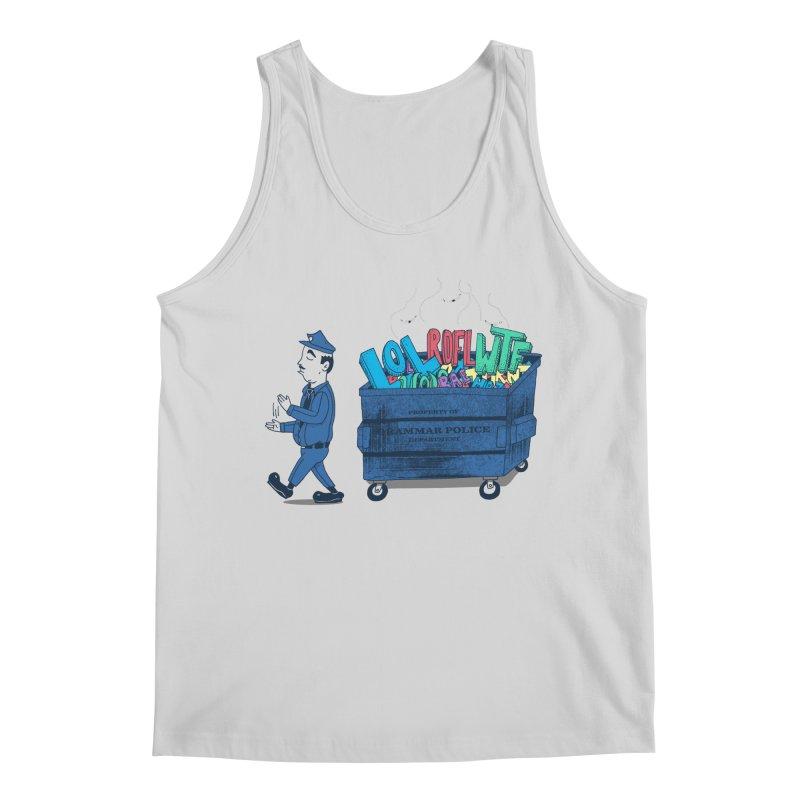Grammar Police 2 Men's Regular Tank by SteveOramA