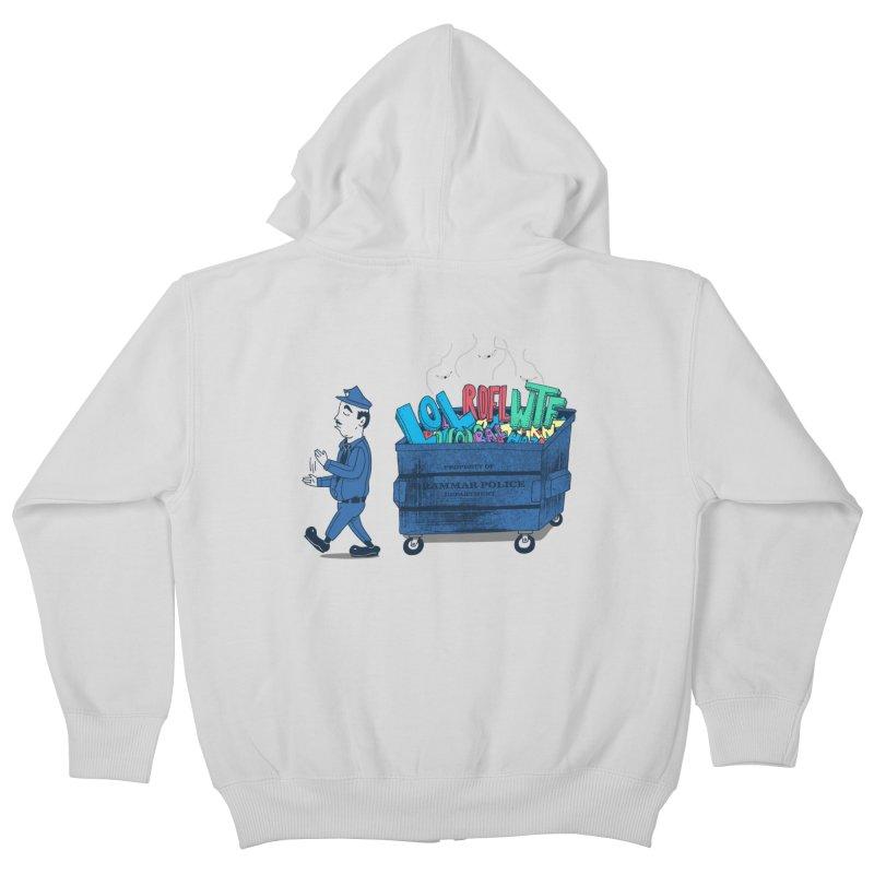 Grammar Police 2 Kids Zip-Up Hoody by SteveOramA