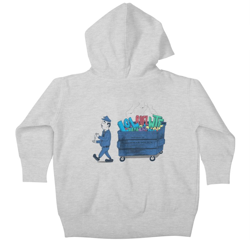 Grammar Police 2 Kids Baby Zip-Up Hoody by SteveOramA