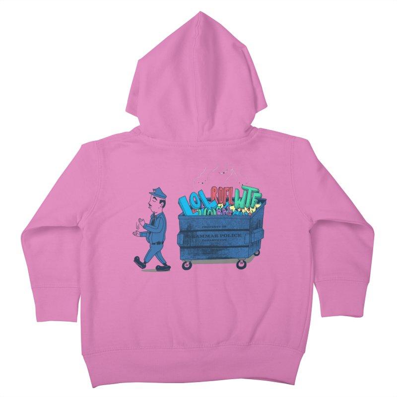 Grammar Police 2 Kids Toddler Zip-Up Hoody by SteveOramA