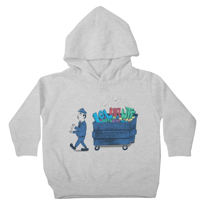 Grammar Police 2 Kids Toddler Pullover Hoody by SteveOramA