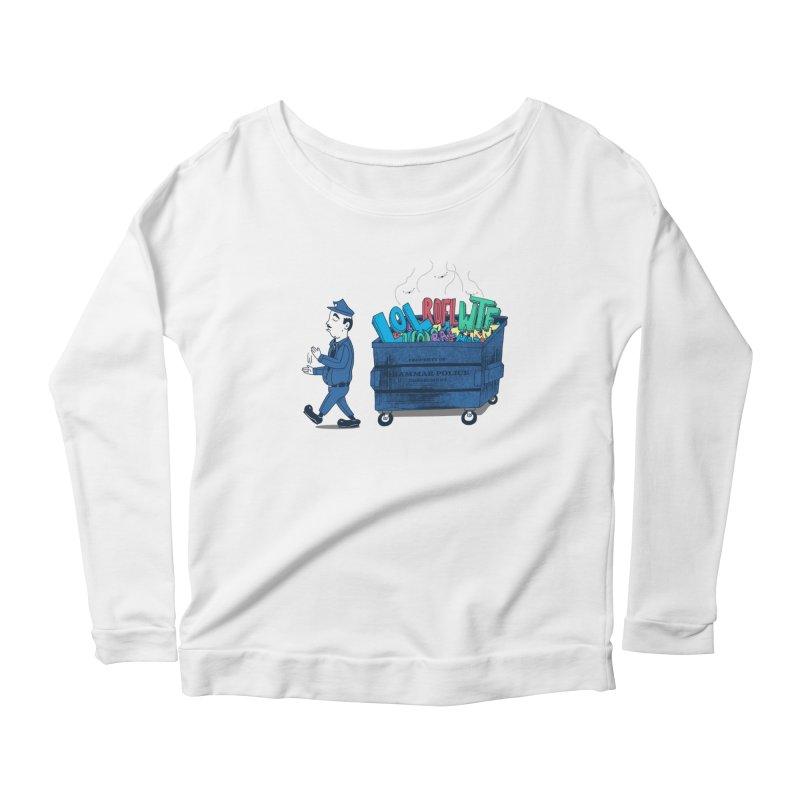 Grammar Police 2 Women's Scoop Neck Longsleeve T-Shirt by SteveOramA