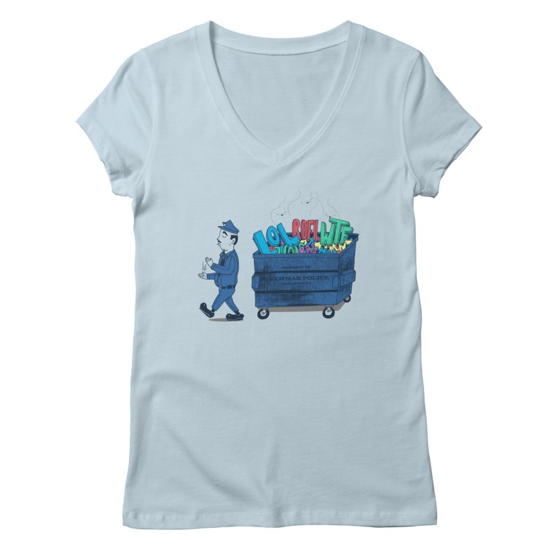 Grammar Police 2 Women's Regular V-Neck by SteveOramA