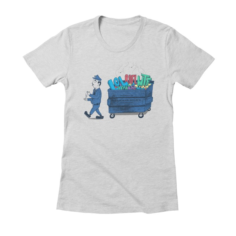 Grammar Police 2 Women's Fitted T-Shirt by SteveOramA