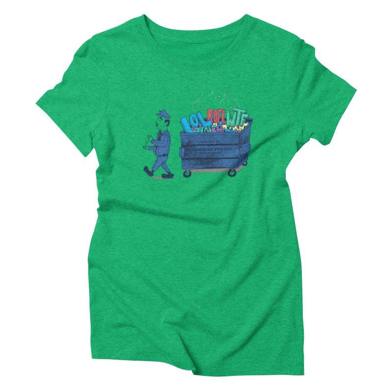 Grammar Police 2 Women's Triblend T-Shirt by SteveOramA