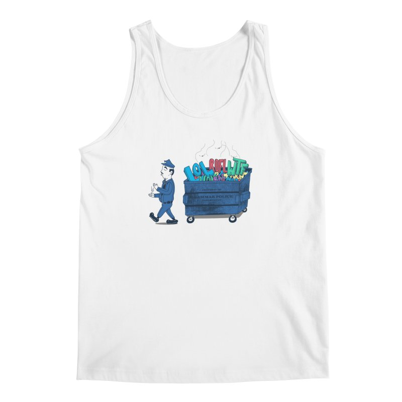 Grammar Police 2 Men's Regular Tank by SteveOramA