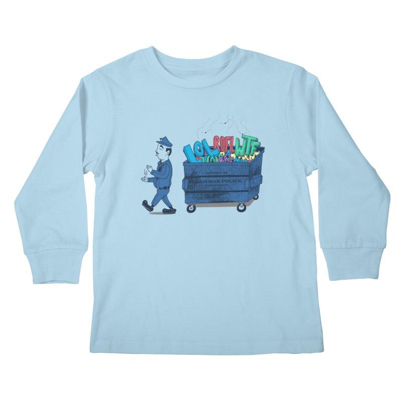 Grammar Police 2 Kids Longsleeve T-Shirt by SteveOramA