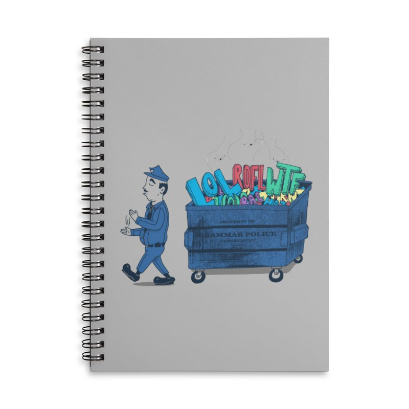 Grammar Police 2 Accessories Lined Spiral Notebook by SteveOramA