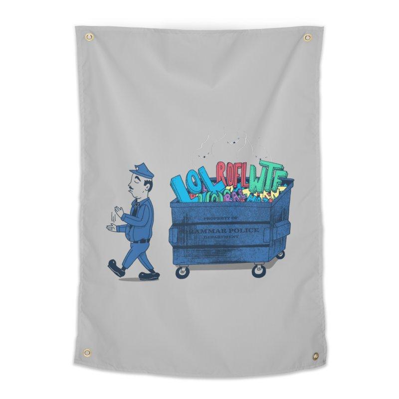 Grammar Police 2 Home Tapestry by SteveOramA