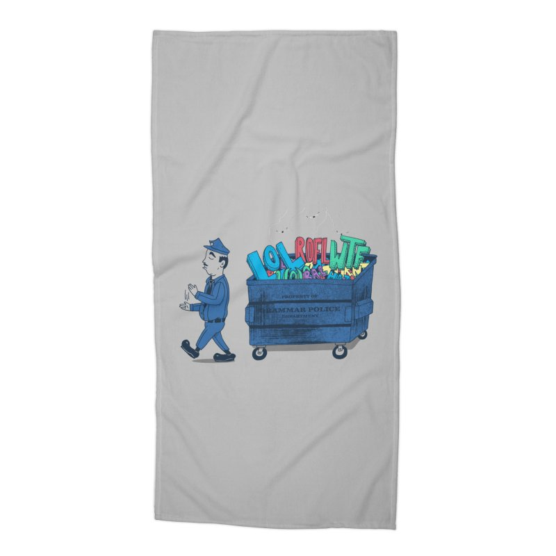 Grammar Police 2 Accessories Beach Towel by SteveOramA