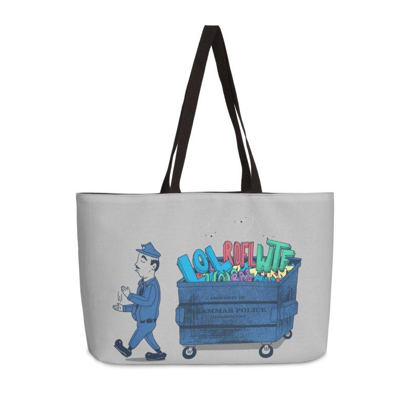 Grammar Police 2 Accessories Bag by SteveOramA