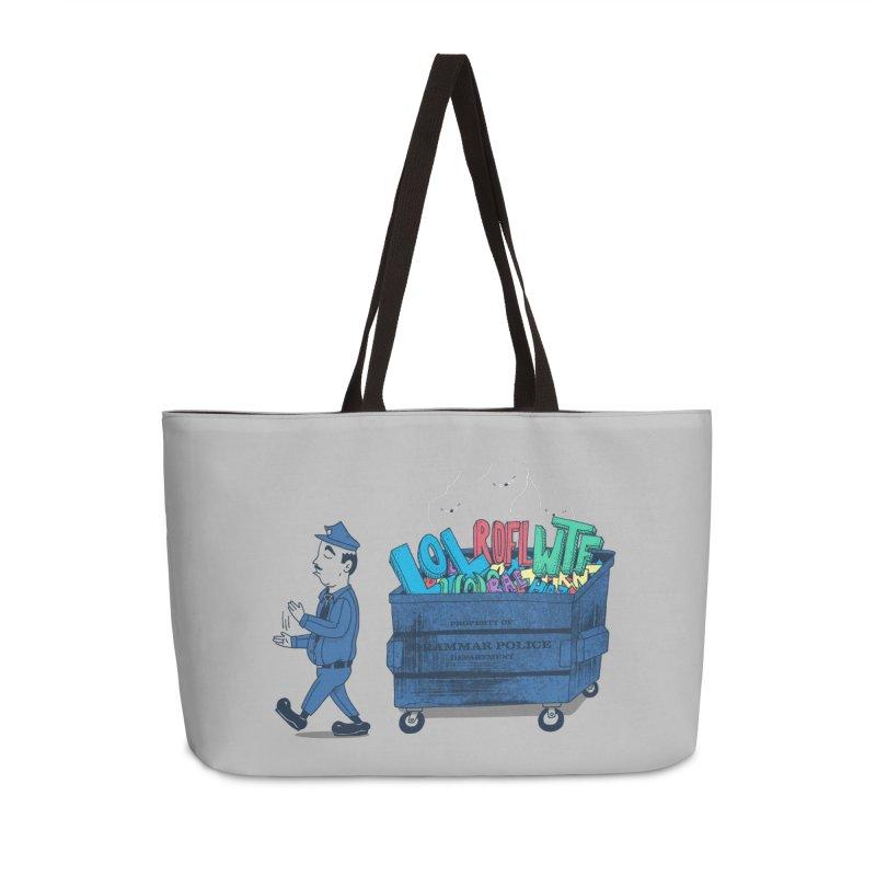 Grammar Police 2 Accessories Weekender Bag Bag by SteveOramA