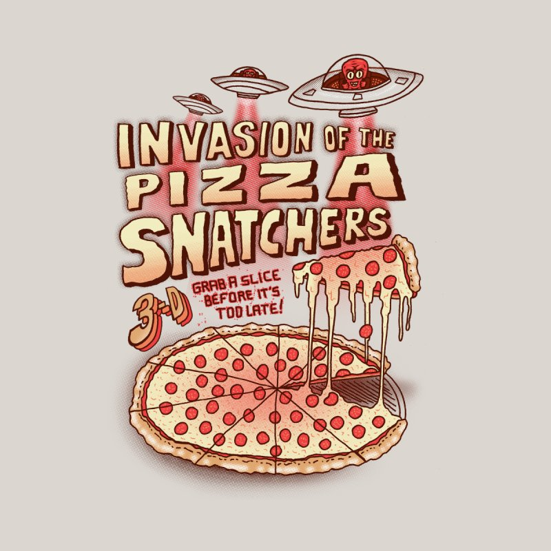Invasion of the Pizza Snatchers Women's V-Neck by SteveOramA