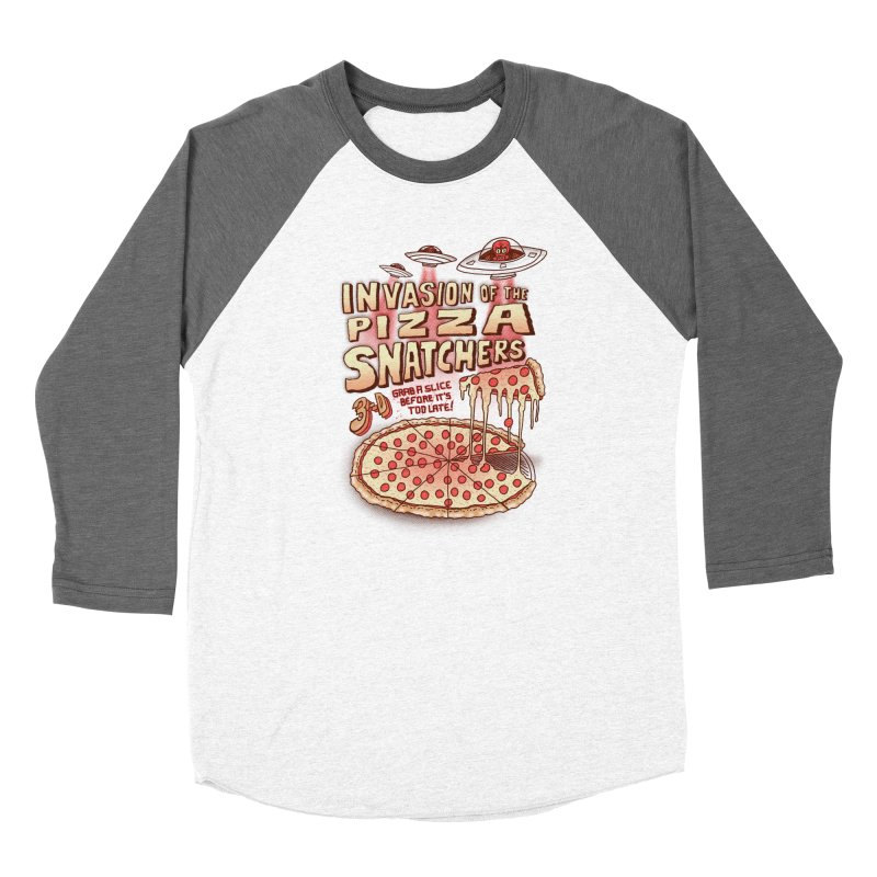 Invasion of the Pizza Snatchers Men's Baseball Triblend Longsleeve T-Shirt by SteveOramA