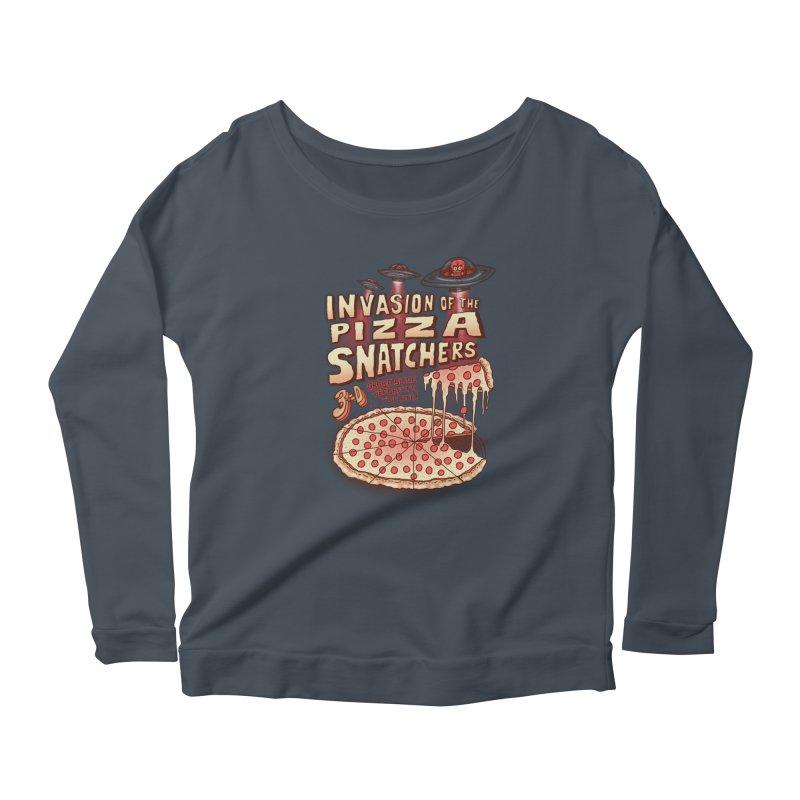 Invasion of the Pizza Snatchers Women's Longsleeve Scoopneck  by SteveOramA