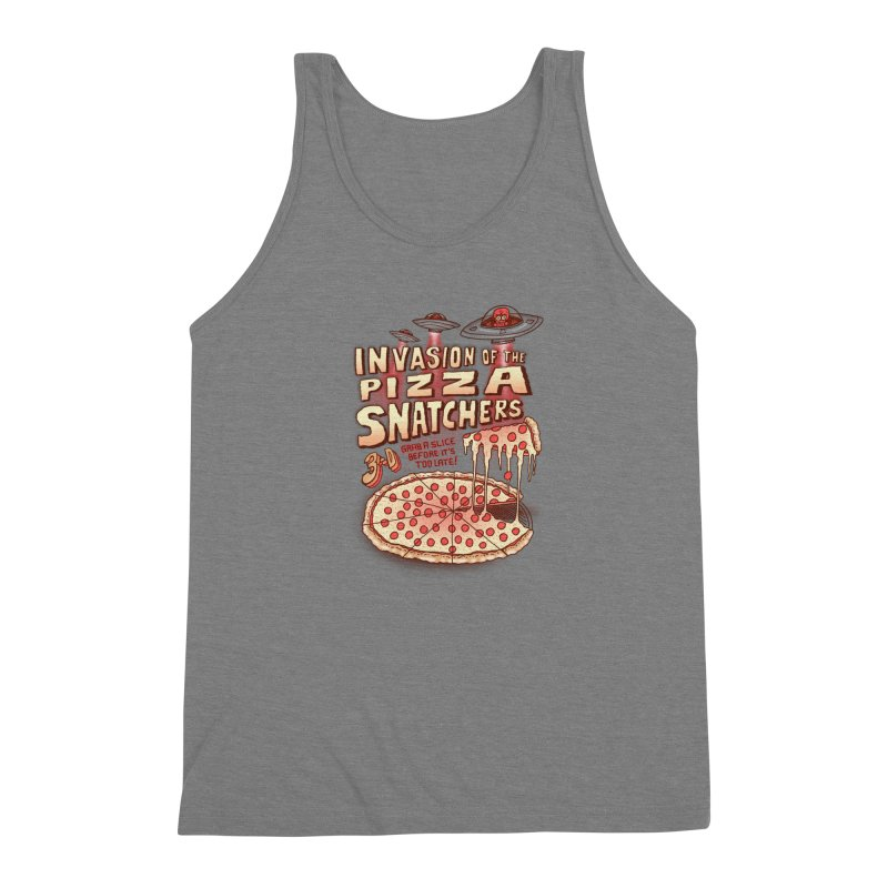 Invasion of the Pizza Snatchers Men's Triblend Tank by SteveOramA