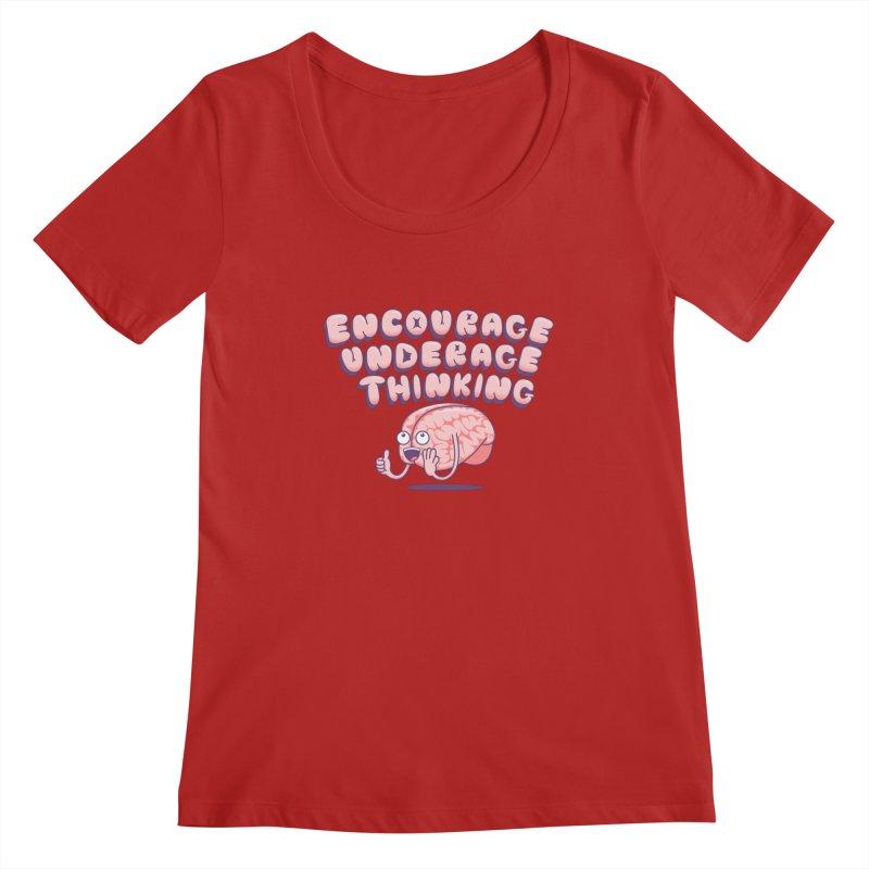 For The Kids Women's Scoopneck by SteveOramA