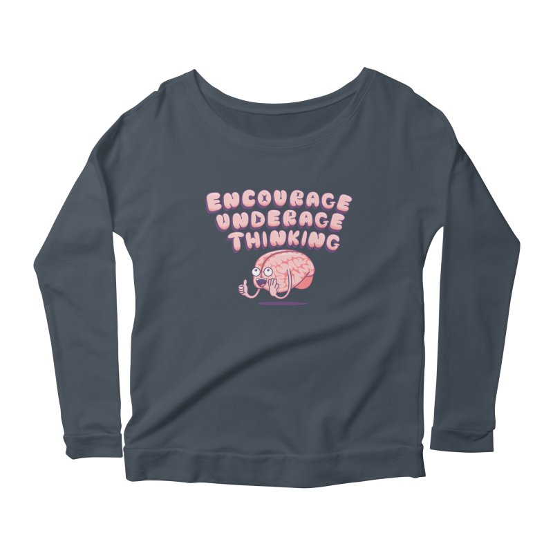 For The Kids Women's Scoop Neck Longsleeve T-Shirt by SteveOramA