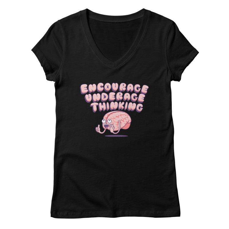 For The Kids Women's Regular V-Neck by SteveOramA