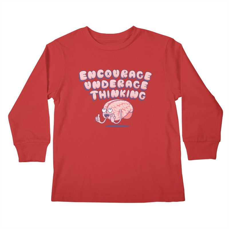 For The Kids Kids Longsleeve T-Shirt by SteveOramA