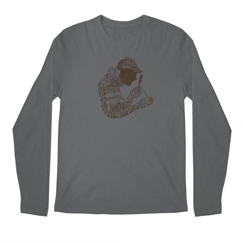 Man of Many Words Men's Regular Longsleeve T-Shirt by SteveOramA