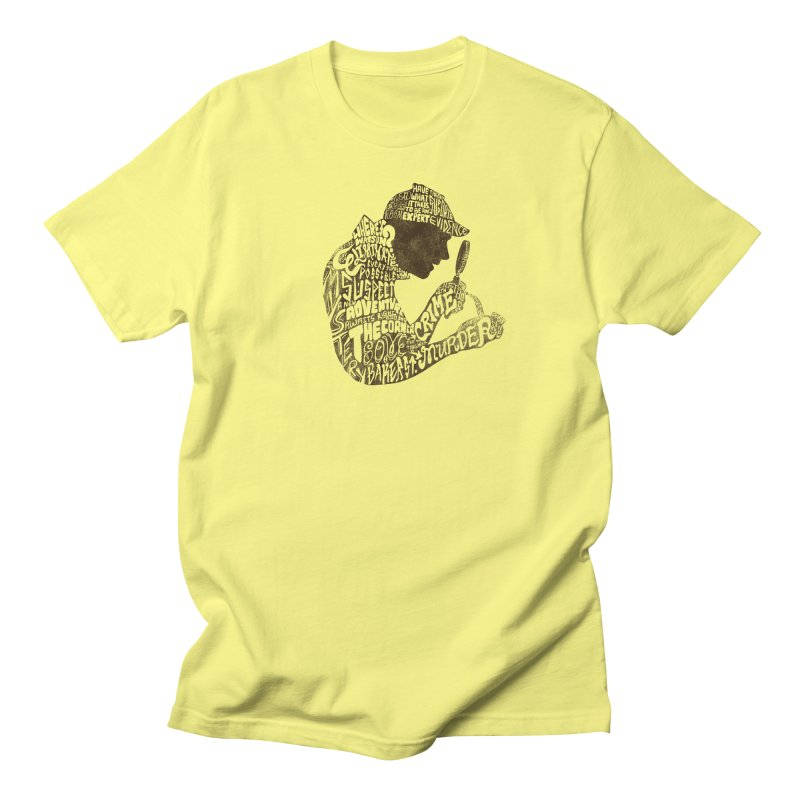 Man of Many Words in Men's T-Shirt Lemon by SteveOramA