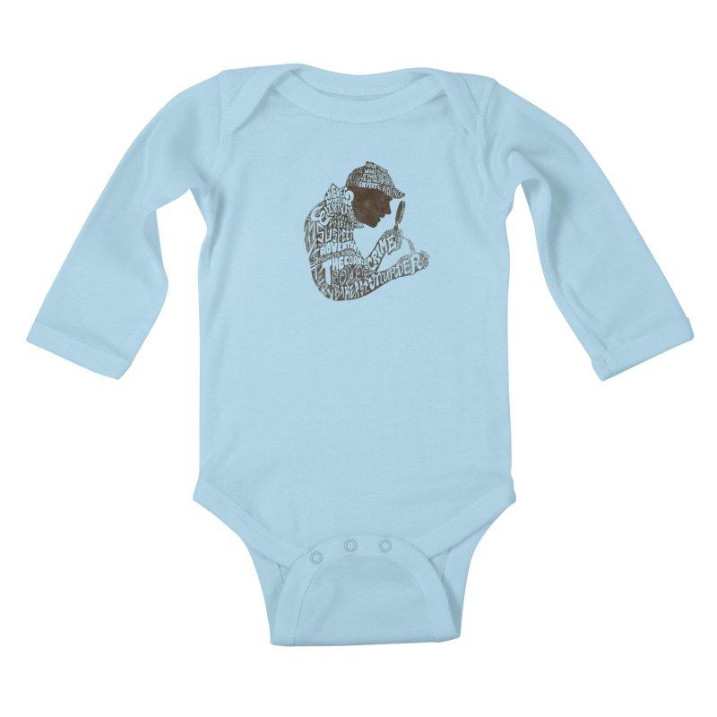 Man of Many Words Kids Baby Longsleeve Bodysuit by SteveOramA