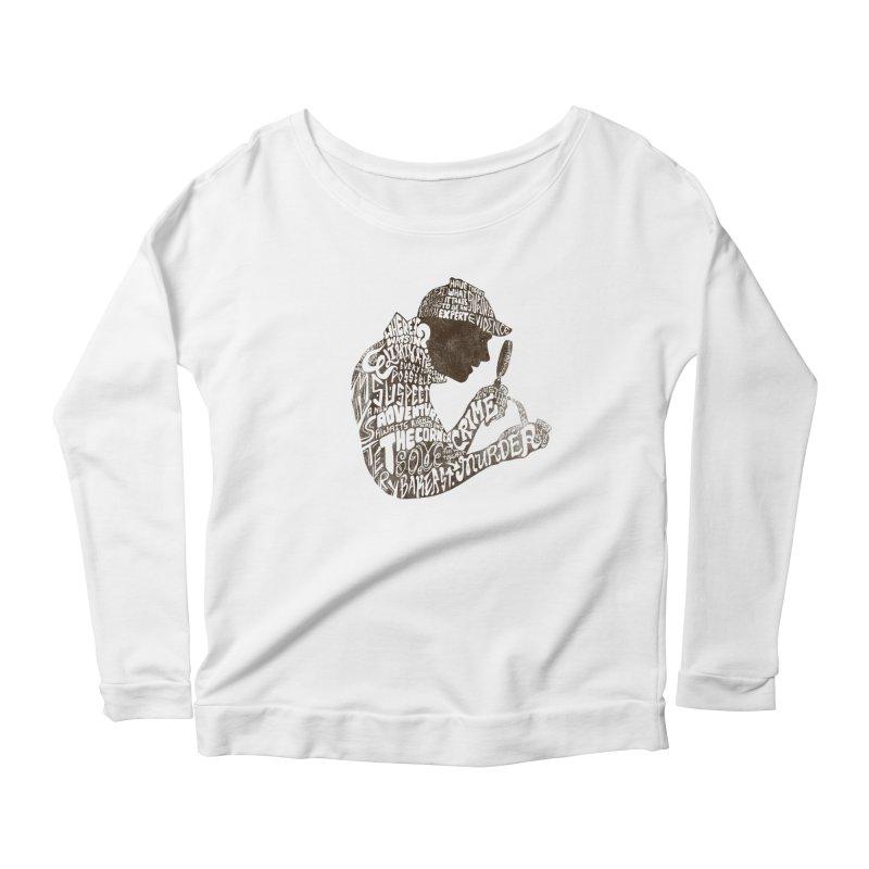 Man of Many Words Women's Scoop Neck Longsleeve T-Shirt by SteveOramA