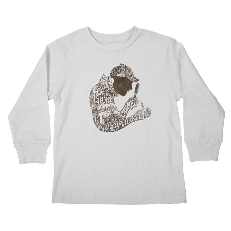 Man of Many Words Kids Longsleeve T-Shirt by SteveOramA