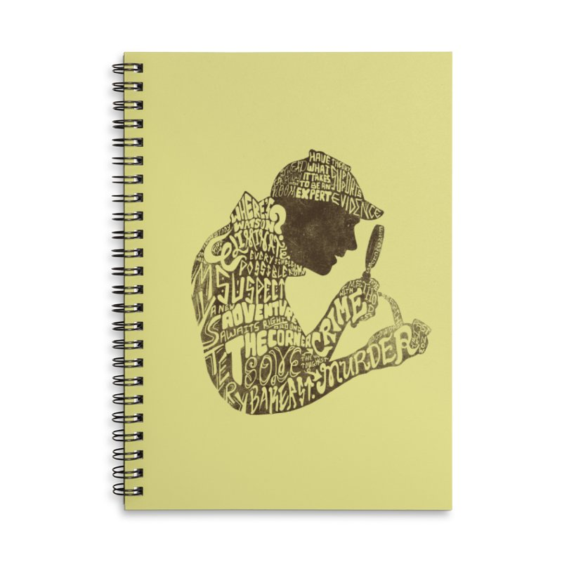 Man of Many Words Accessories Lined Spiral Notebook by SteveOramA