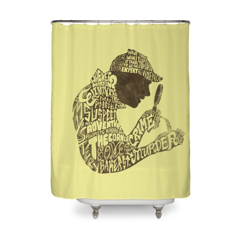 Man of Many Words Home Shower Curtain by SteveOramA