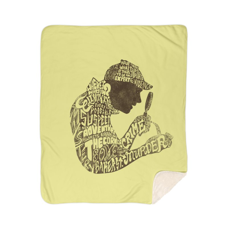 Man of Many Words Home Sherpa Blanket Blanket by SteveOramA