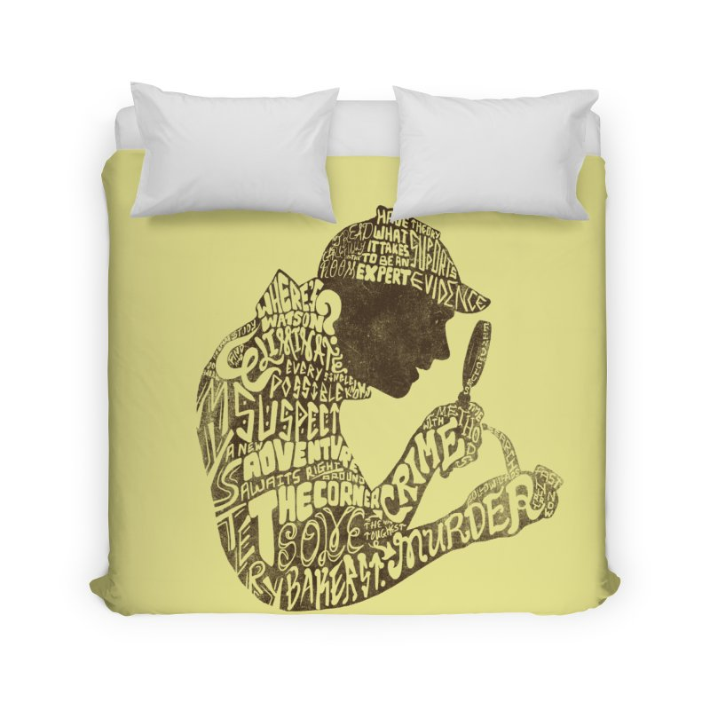 Man of Many Words Home Duvet by SteveOramA
