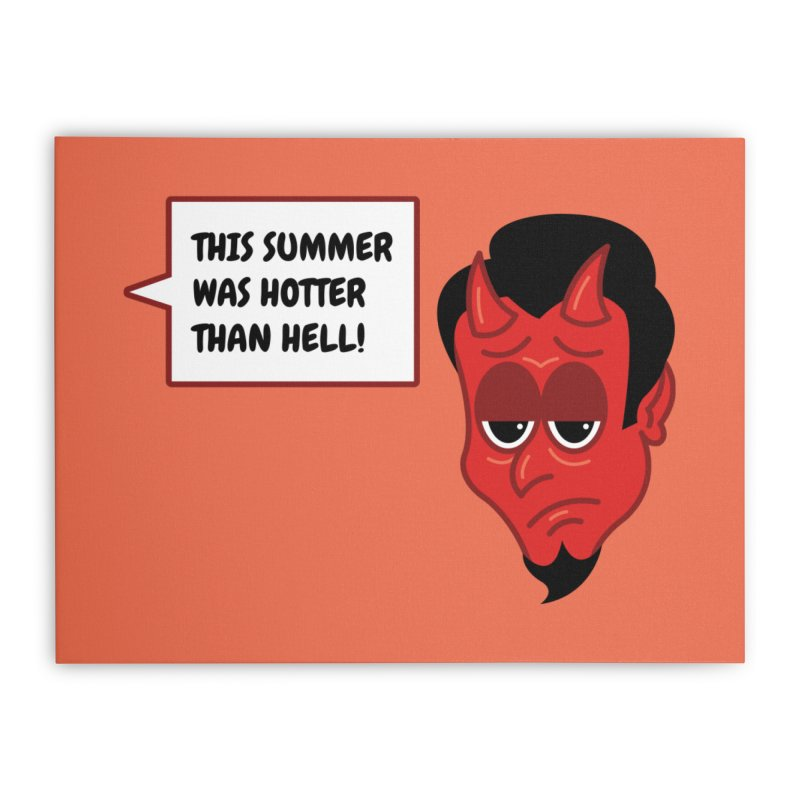 Bored Devil Home Stretched Canvas by SteveOramA